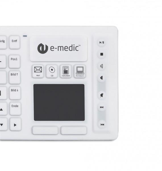 kabellose-medizinische silikon tastatur mit touchpad